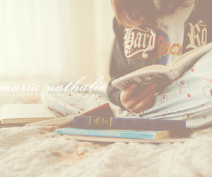 book, girl, and bookworm image