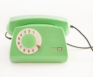 green, mint, and telephone image