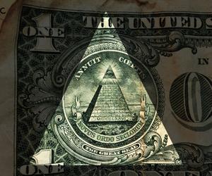 dolar, green, and illuminati image