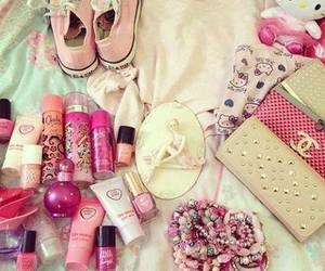 pink, chanel, and converse image