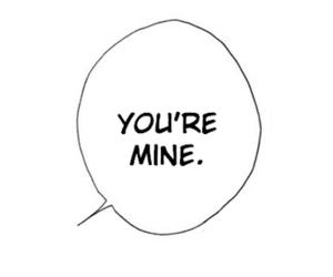 quote, manga, and mine image