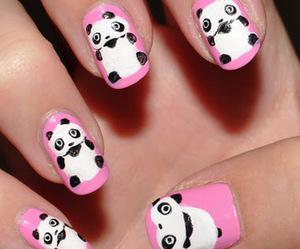 panda, cute, and nails image