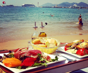 beach, delicious, and food image