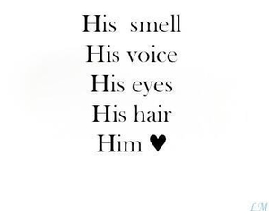 love, him, and eyes image