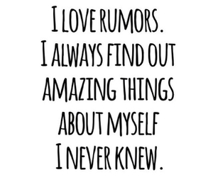 quote, rumors, and funny image