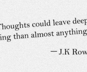 quote, jk rowling, and thoughts image