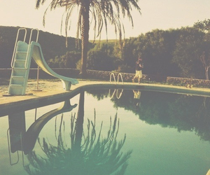 pool, summer, and california image