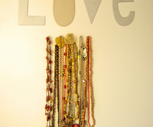 necklace, room, and love image