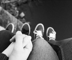 love, black and white, and cute image