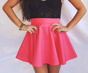 dress, pink, and cute image
