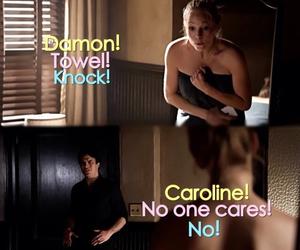funny, Vampire Diaries, and damon salvatore image