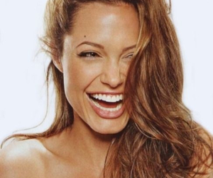 Angelina Jolie, beautiful, and laughing image
