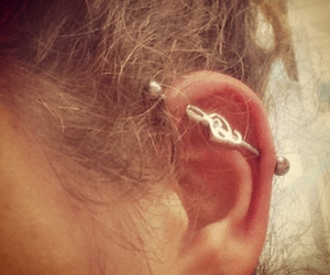 earring, industrial, and music image