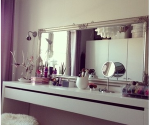 mirror, makeup, and room image