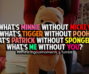 love, spongebob, and mickey image