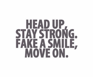 move on, quote, and smile image