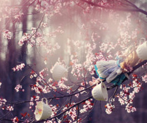 alice in wonderland, idyllic, and tea image