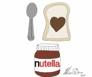 chocolate, nutella, and love image