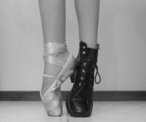 ballet, black and white, and doc martens image