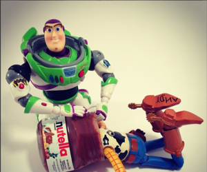 nutella, chocolate, and toy story image