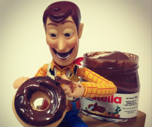 nutella, toy story, and chocolate image