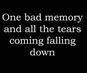 memories, tears, and quote image