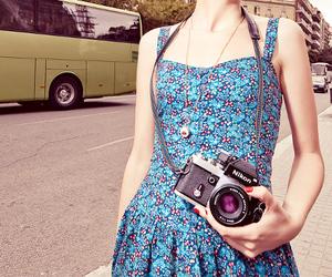 dress, camera, and fashion image