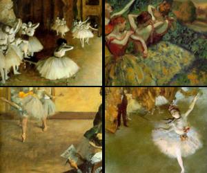 art, ballerinas, and ballet image