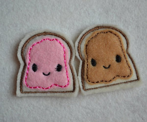 bread, happy, and candy image
