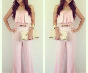 style, pink, and outfit image