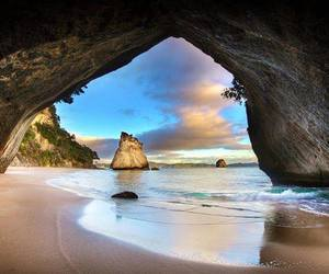 beach, new zealand, and nature image