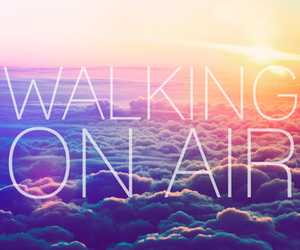 air, walking, and clouds image