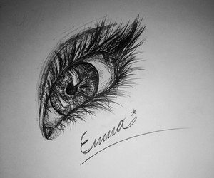 eye drawing by me image