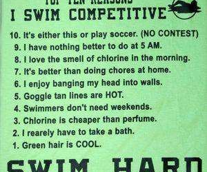 crazy, swim, and competitive image