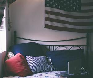 room, bed, and usa image