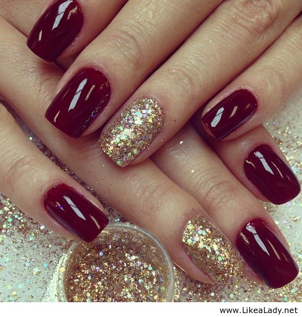 simple christmas nails shared by teodorageorgiana - Simple Christmas Nails