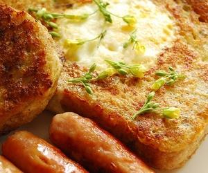 sausage, food, and breakfast image