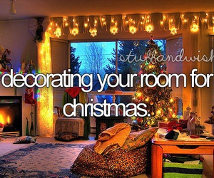 christmas, room, and decorating image
