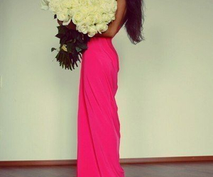 girl, rose, and pink image