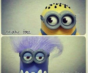 minions, monday, and friday image