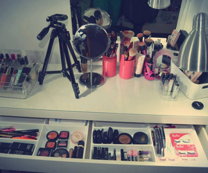 makeup, dressing table, and girl image