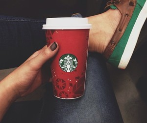 shoes, starbucks, and instagram image