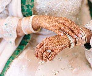 henna, ring, and wedding image