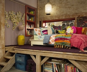 bedroom and good luck charlie image