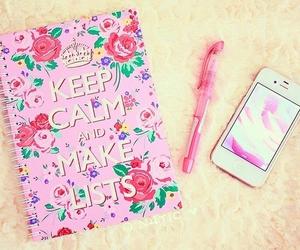 girly, phone, and work image