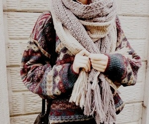 fashion, winter, and scarf image