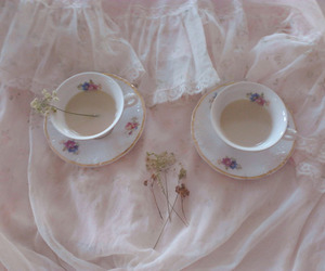 pink, pale, and tea image