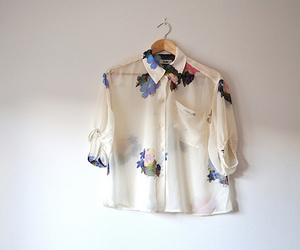 fashion, floral, and shirt image