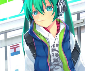 miku hatsune, vocaloid, and anime image