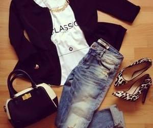 fashion, bag, and blazer image